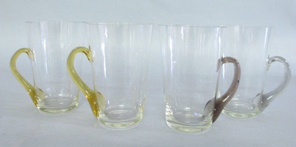 Group of Tinted Glass Mugs - 2