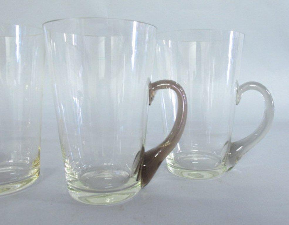 Group of Tinted Glass Mugs - 3