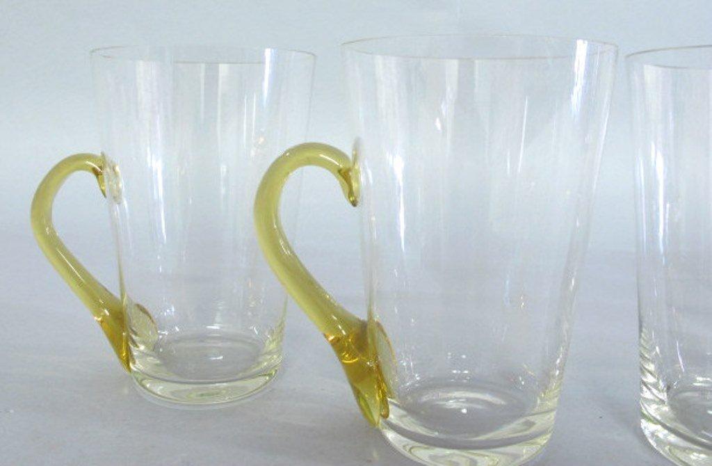 Group of Tinted Glass Mugs - 4