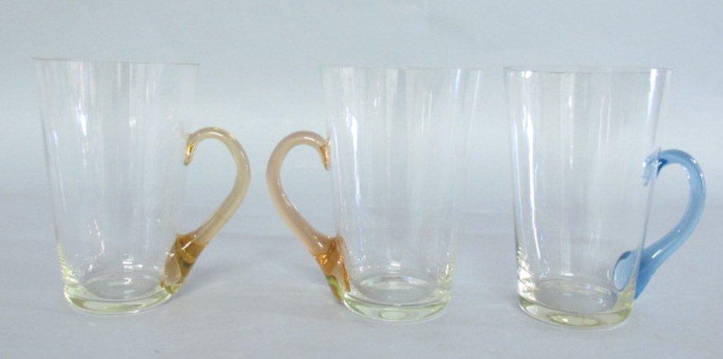 Group of Tinted Glass Mugs - 5
