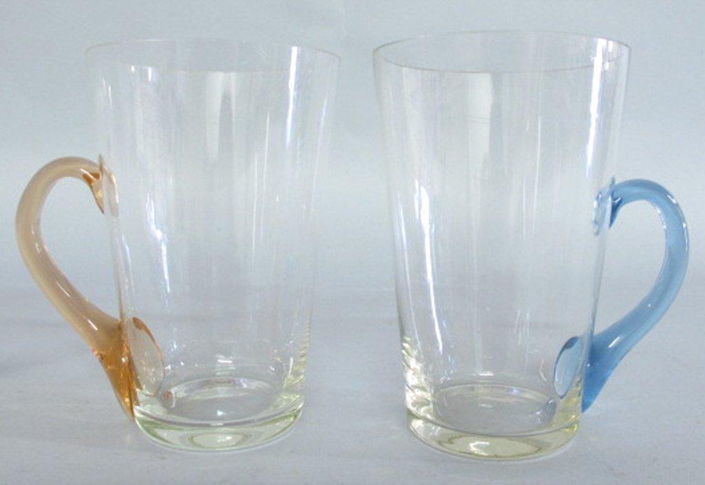 Group of Tinted Glass Mugs - 6