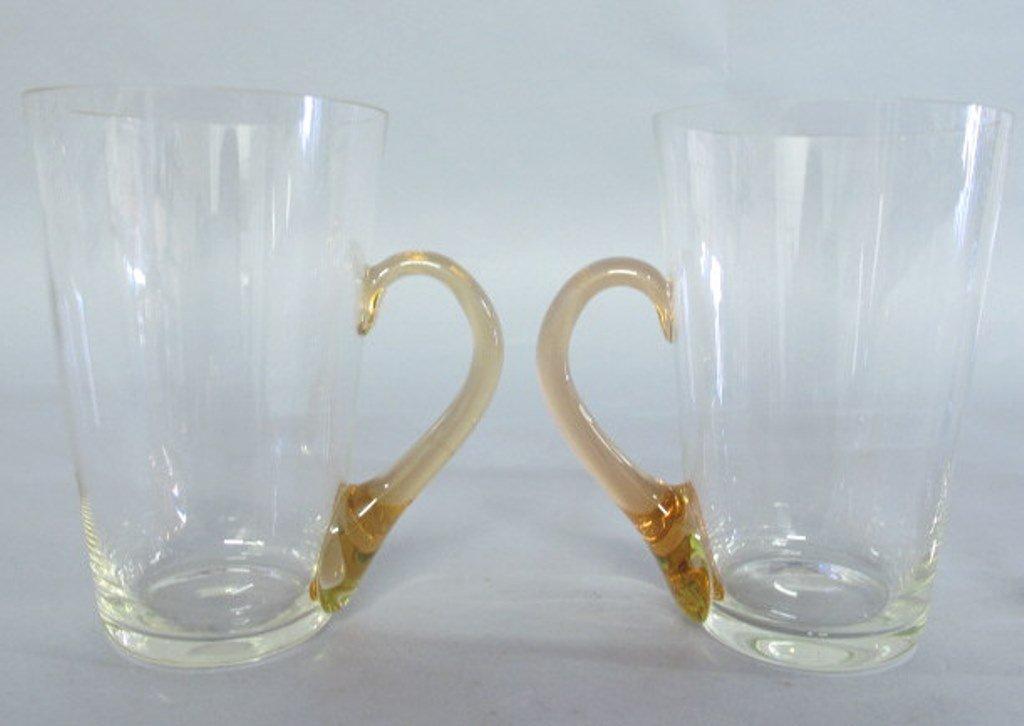 Group of Tinted Glass Mugs - 7