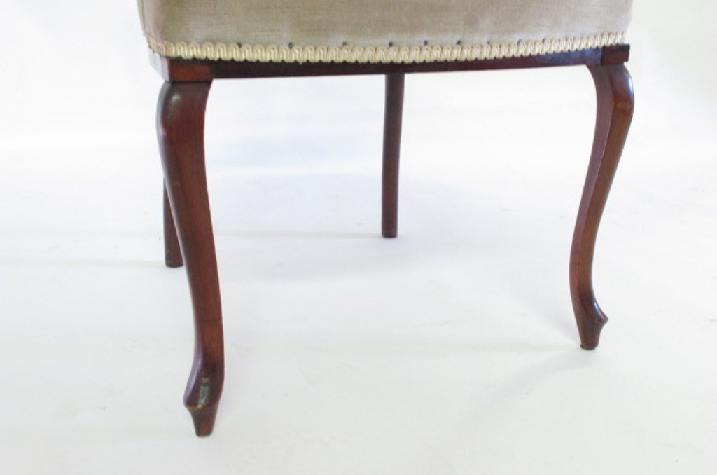 Antique Needlepoint Upholstered Armchair - 9