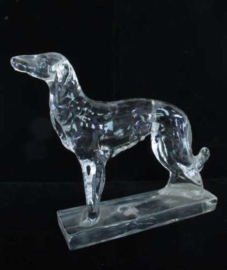 Pair Crystal Dogs - 2