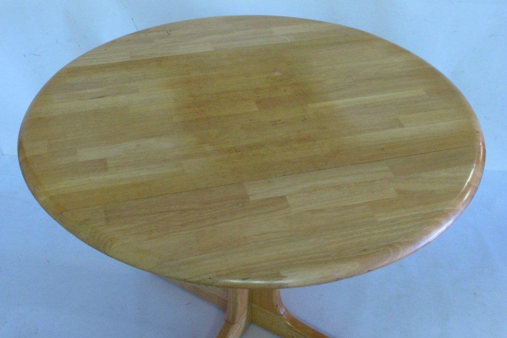 Drop Leaf Oak Table - 2