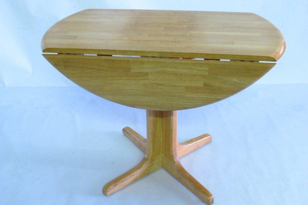 Drop Leaf Oak Table - 6