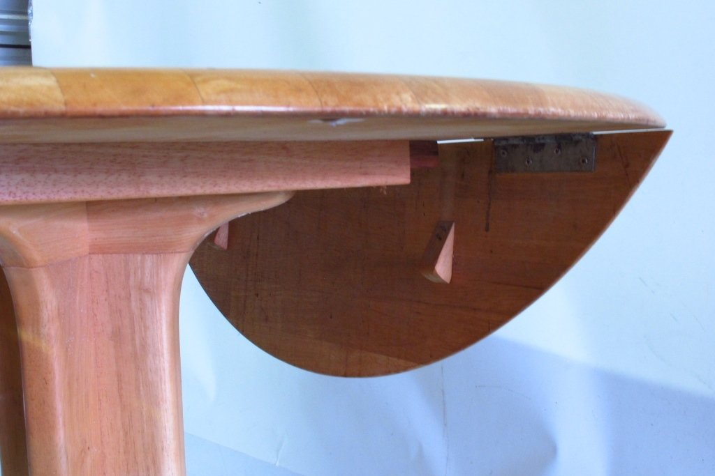 Drop Leaf Oak Table - 7