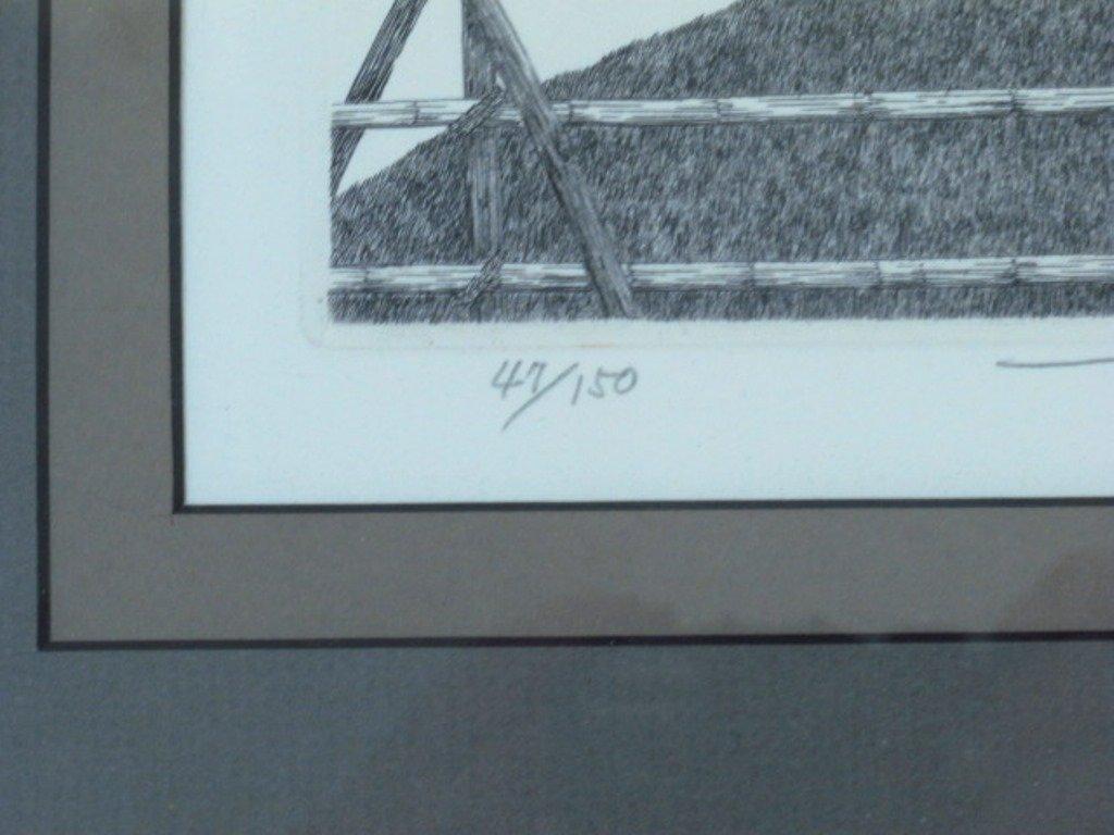Tanaka Ryohei (1933-) Signed Etching - 5