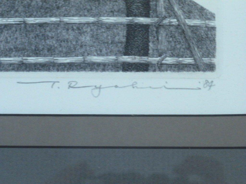 Tanaka Ryohei (1933-) Signed Etching - 6