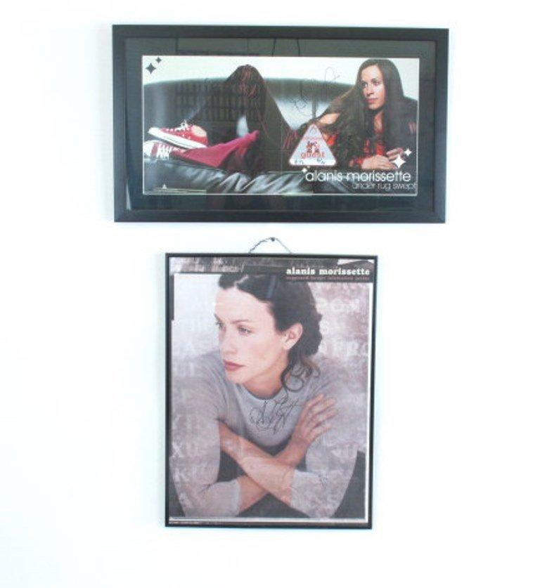 Alanis Morissette Autographed Poster Pair