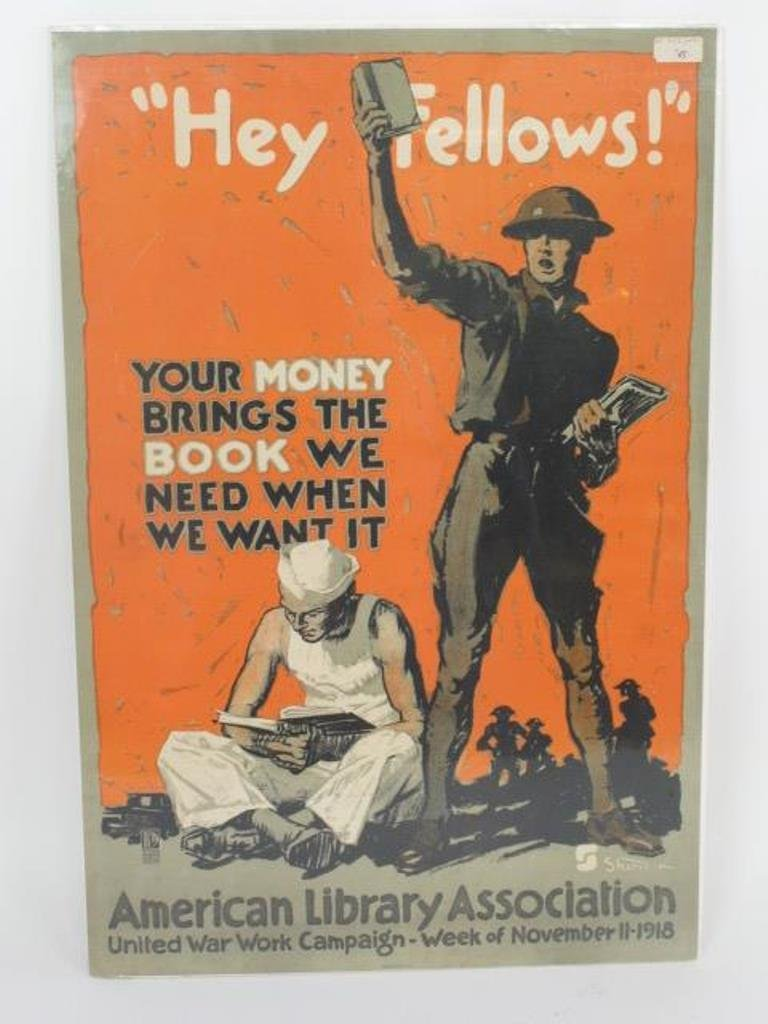 World War One Books for Soldiers Poster
