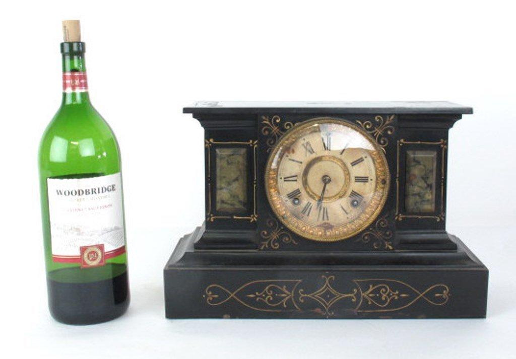 Ansonia Black Mantle Clock