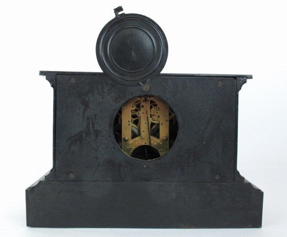 Ansonia Black Mantle Clock - 8