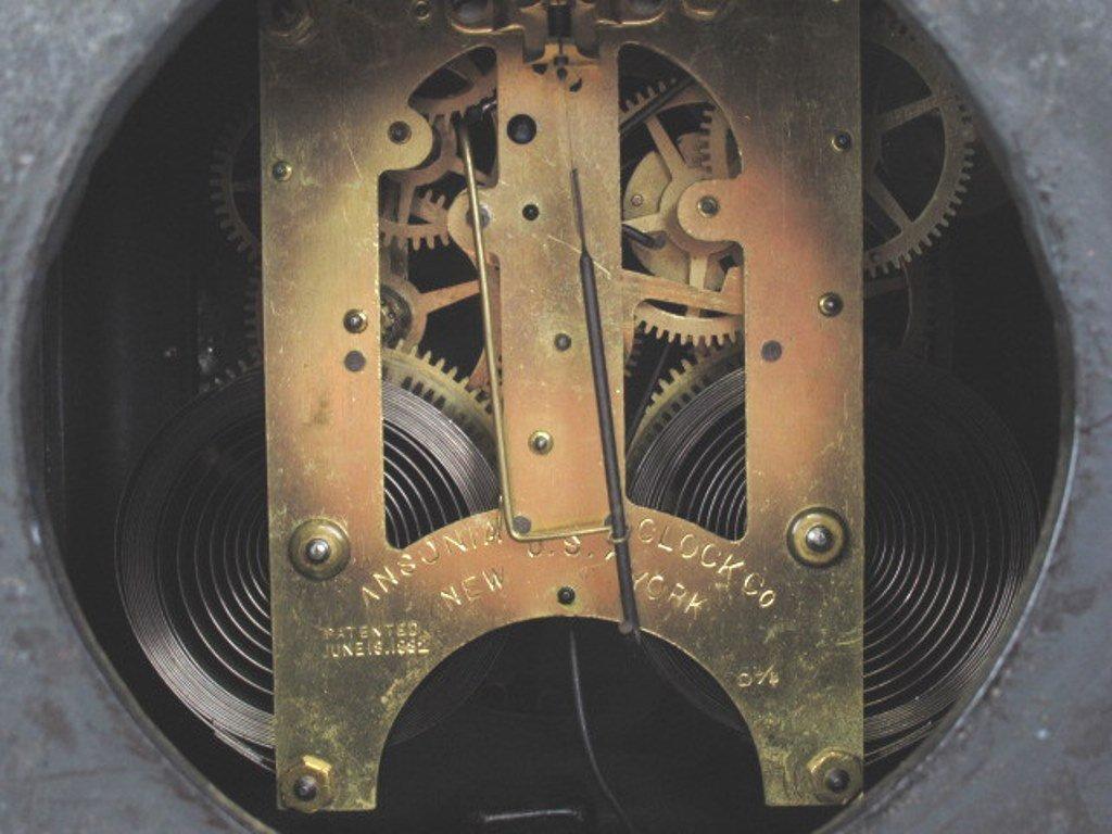 Ansonia Black Mantle Clock - 9