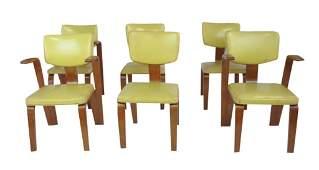 Six Mid Century Modern Dining Chairs