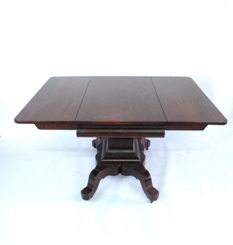Mahogany Drop Leaf  Empire Table