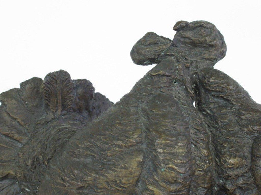 """Cock Fight"" Bronze Figure - 3"