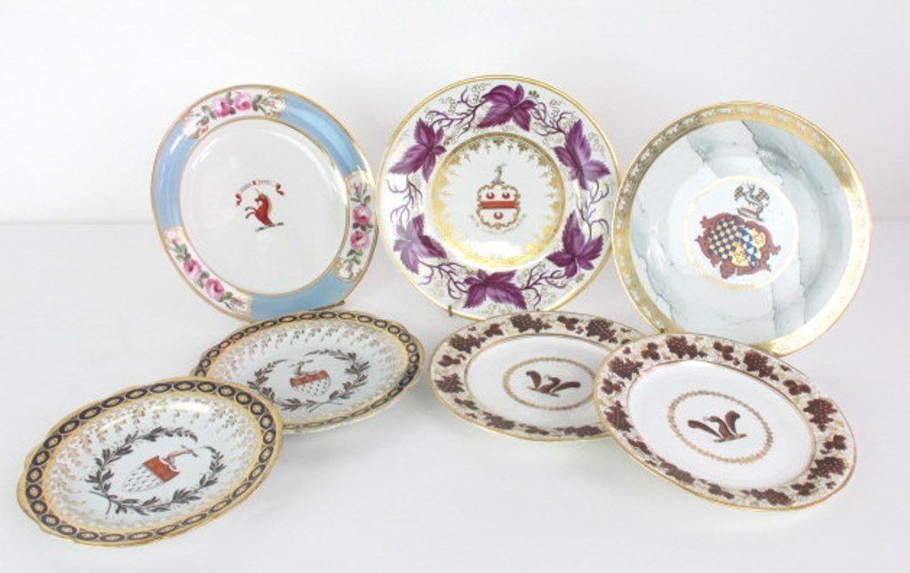 Group of Seven Fine China Plates