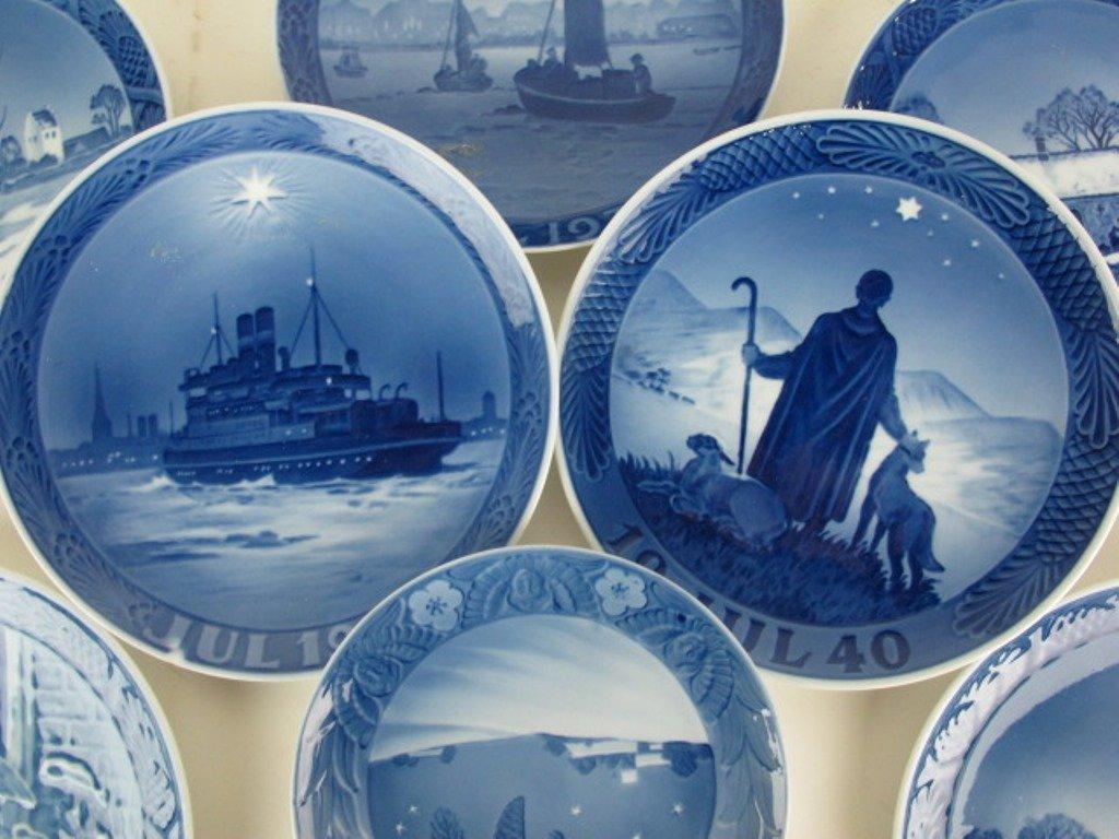 Group 13 Royal Copenhagen Collectible Plates - 8