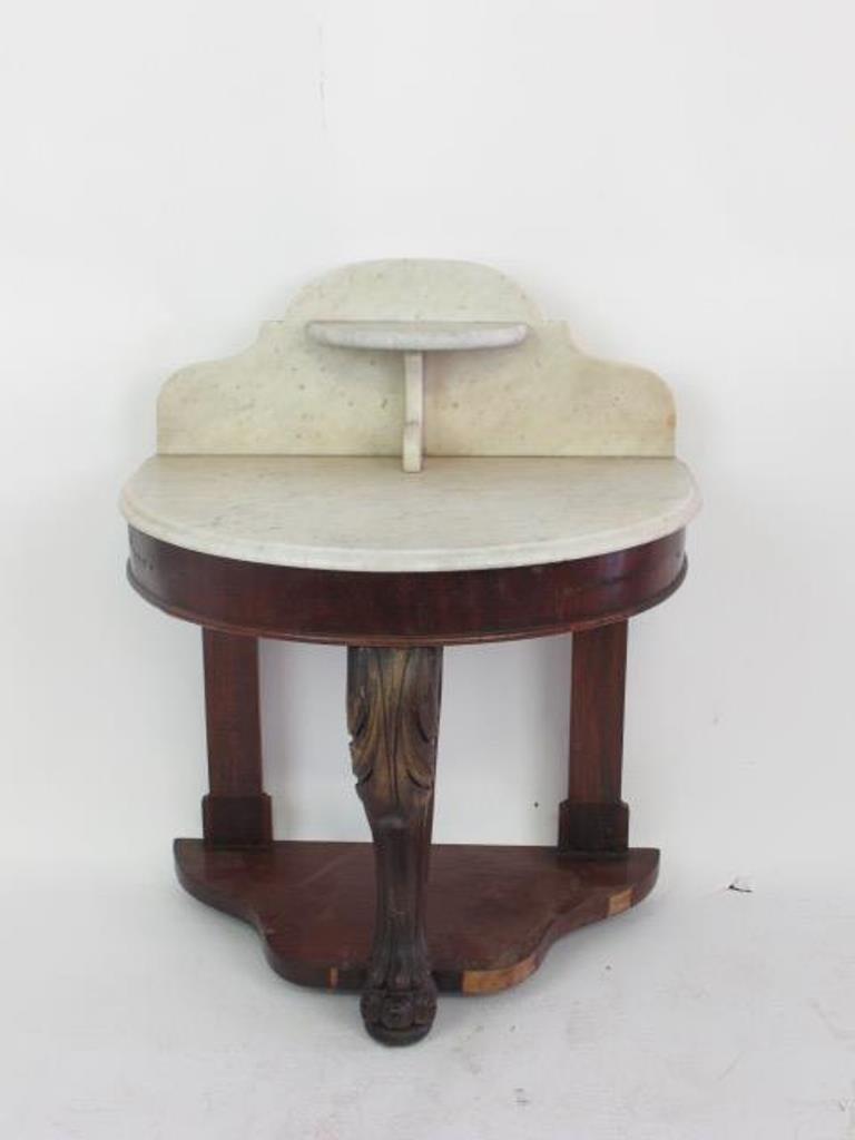 Empire Marble Top Mahogany Wash Stand
