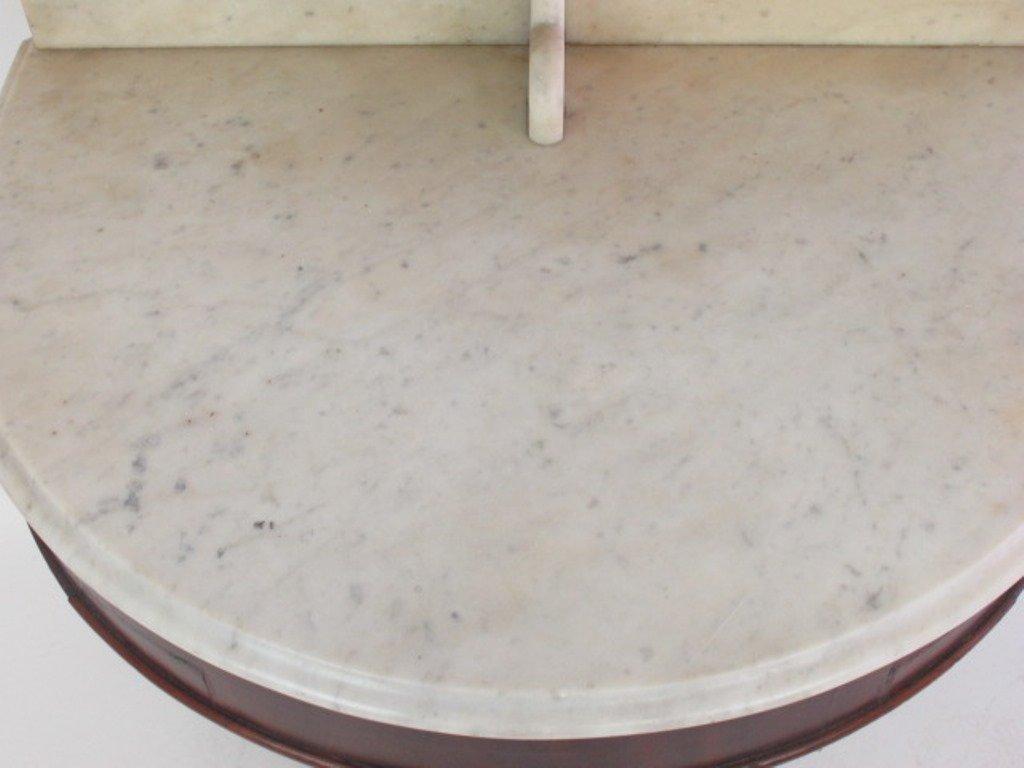 Empire Marble Top Mahogany Wash Stand - 3