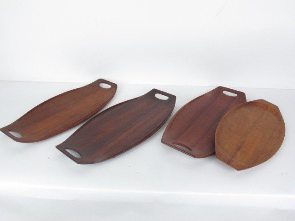 Group of Ten Danish Teak Wood Trays - 2