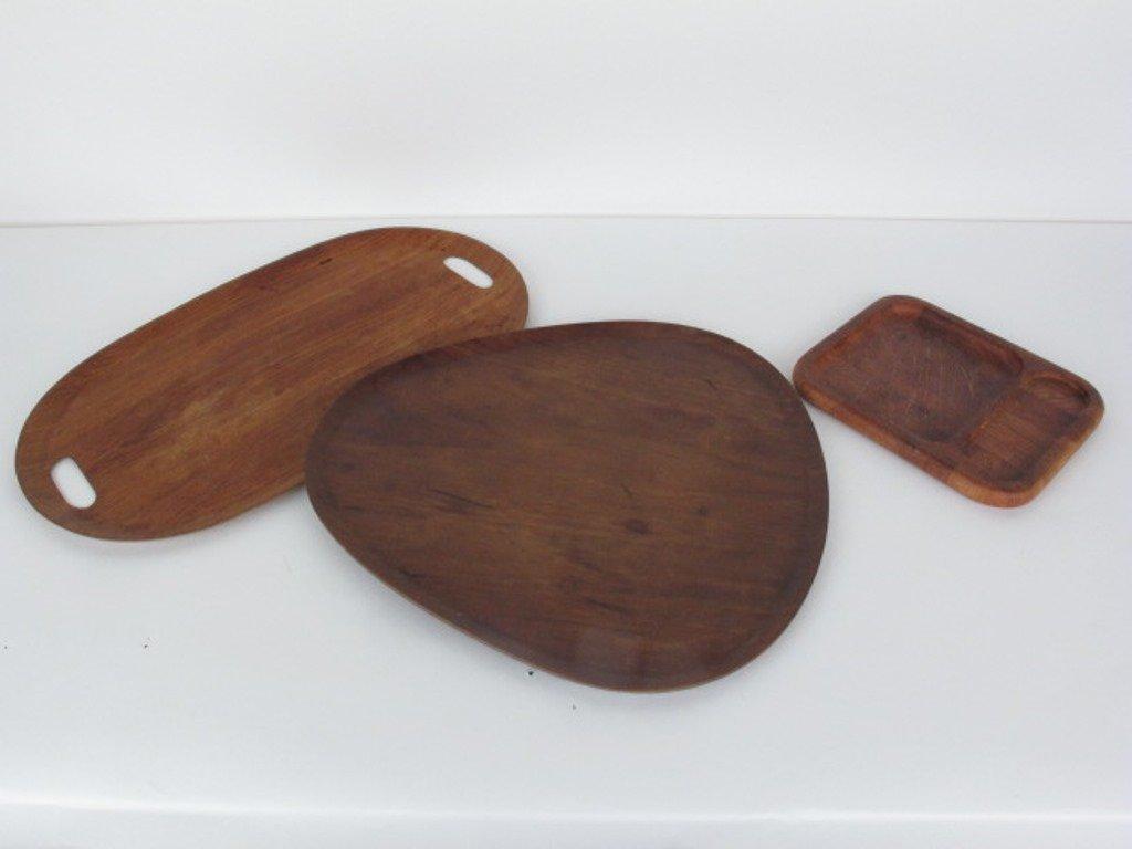 Group of Ten Danish Teak Wood Trays - 5