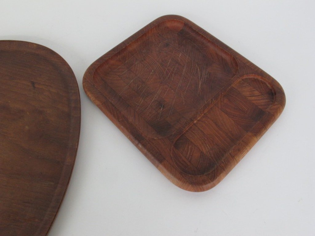 Group of Ten Danish Teak Wood Trays - 6