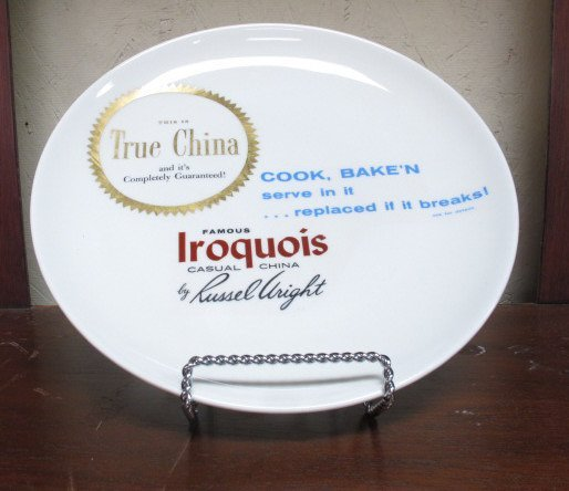 Iroquois Russell Wright Dealers Plate