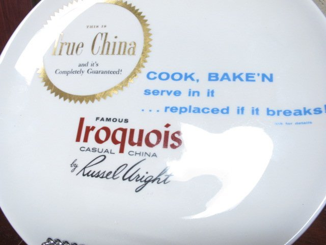Iroquois Russell Wright Dealers Plate - 2