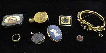 Group of Seven Jewelry Items 10K Ring