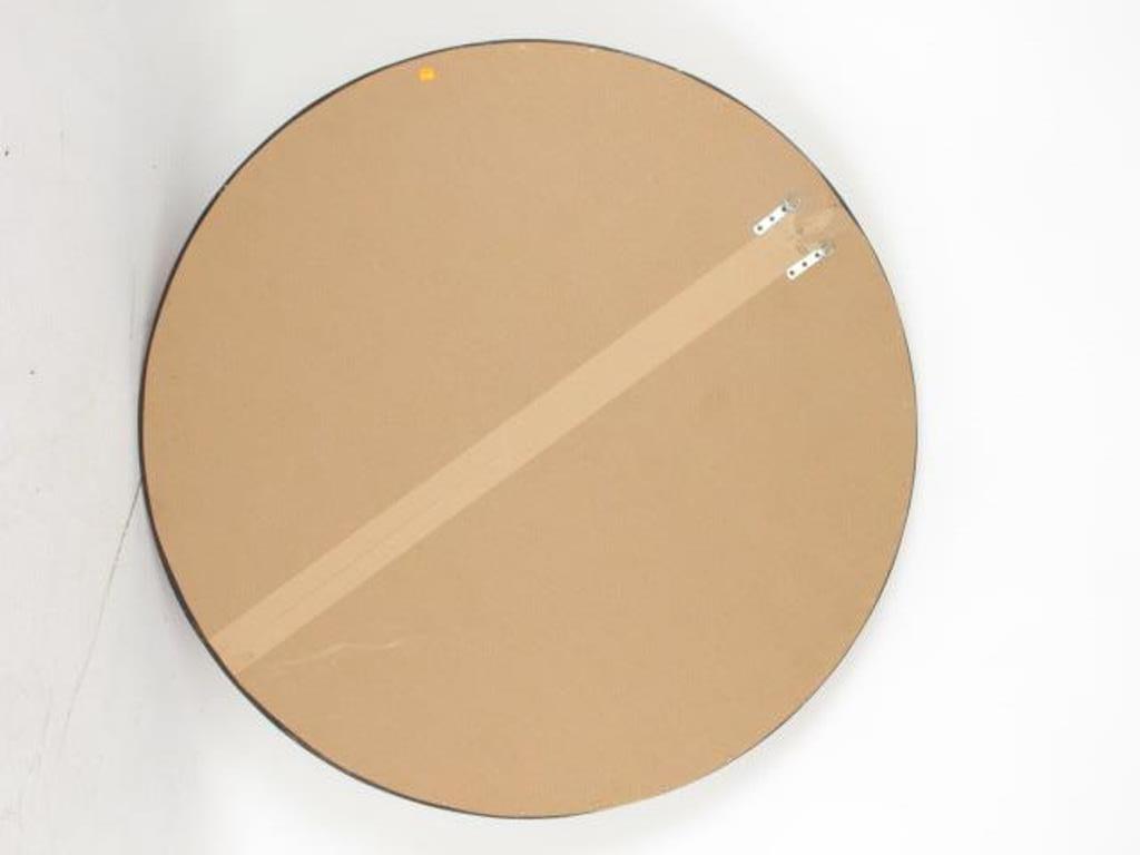Large Decorative Circular Carved  Wood Wall Mirror - 4