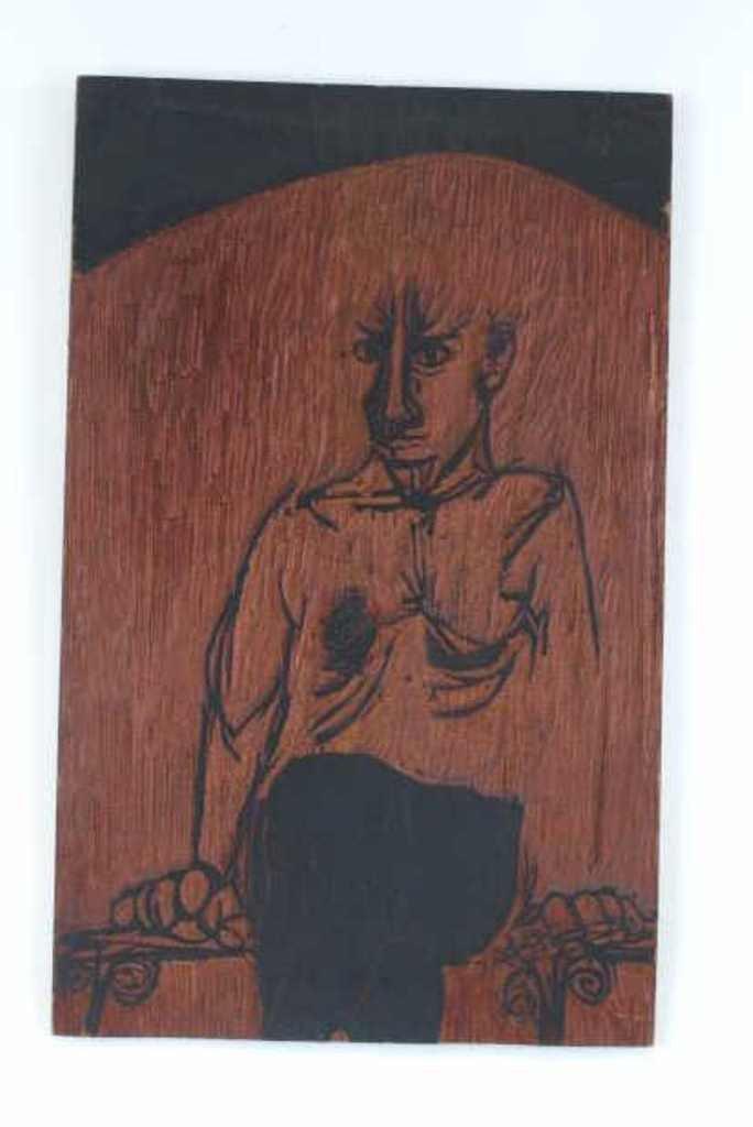 Carved Woodblock Print Stamp