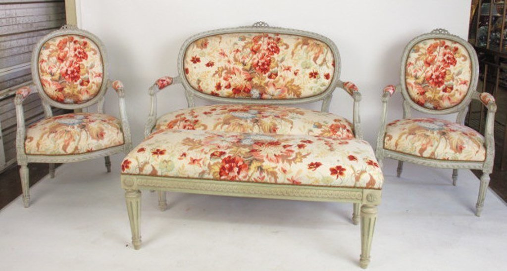 Four Piece Floral Parlor Set
