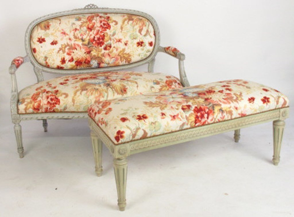 Four Piece Floral Parlor Set - 2