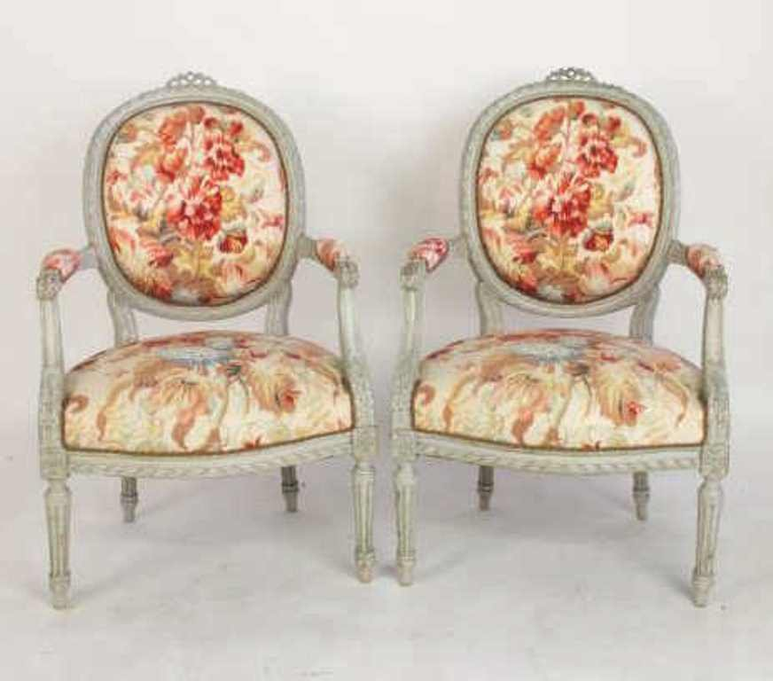 Four Piece Floral Parlor Set - 6
