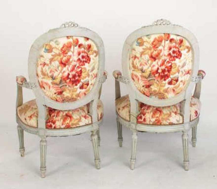 Four Piece Floral Parlor Set - 7