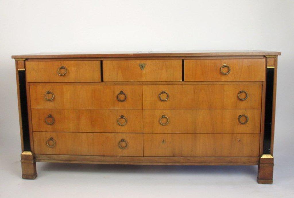 Empire Style Satin Mahogany Dresser