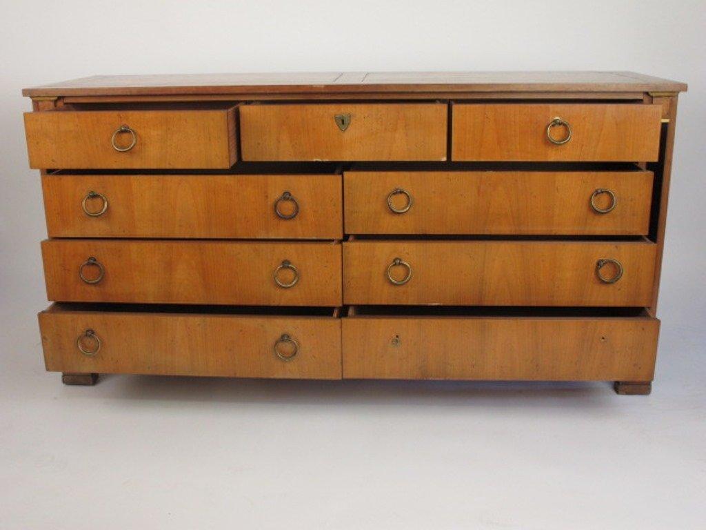Empire Style Satin Mahogany Dresser - 6