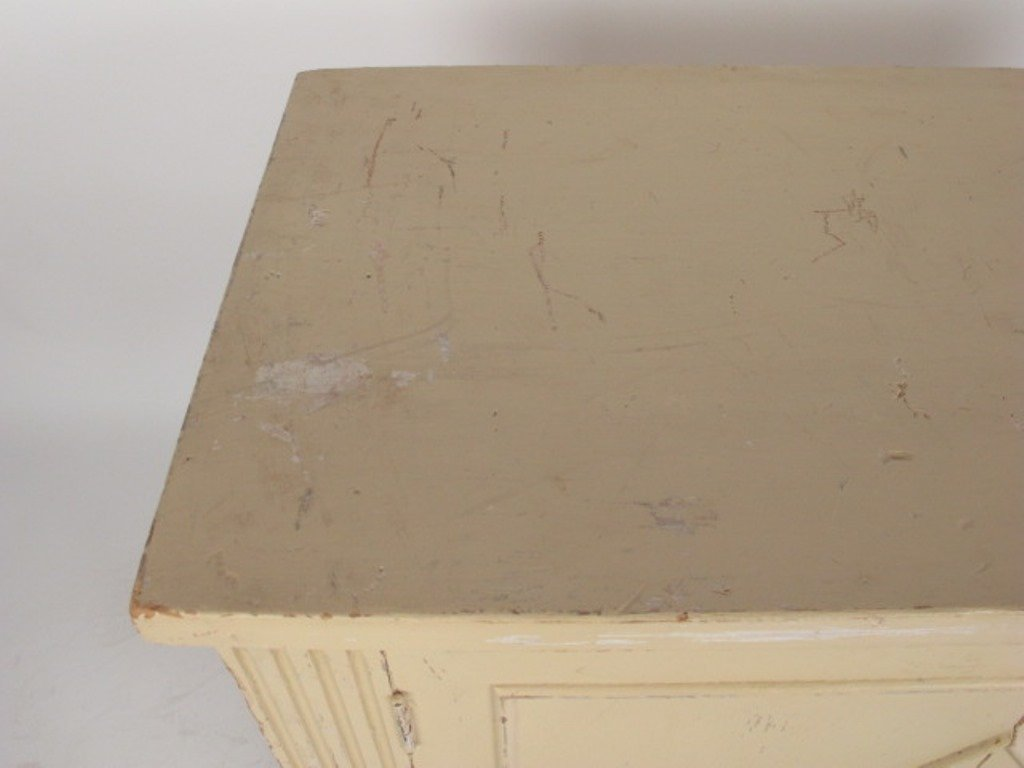 White Painted Classical Style Cabinet - 5