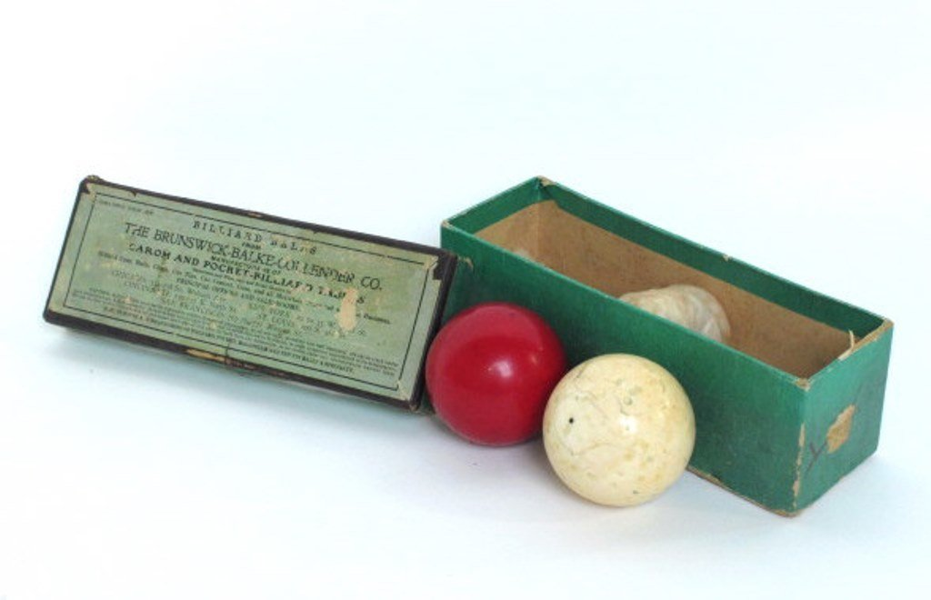 Two Vintage Billiard Balls