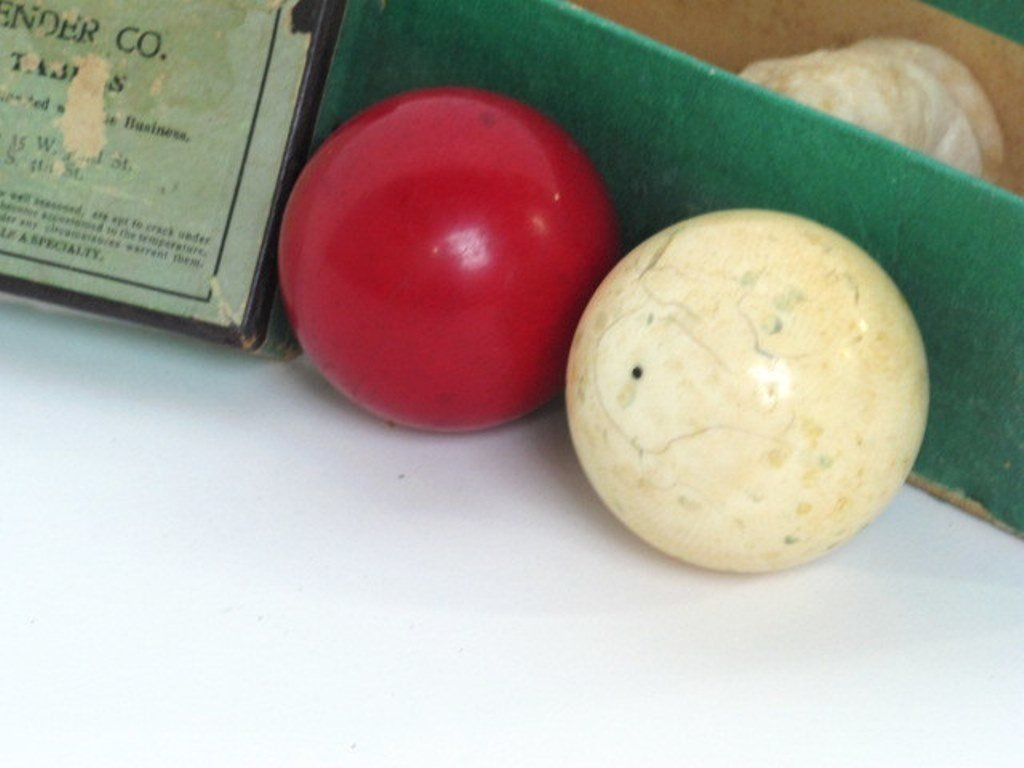 Two Vintage Billiard Balls - 3