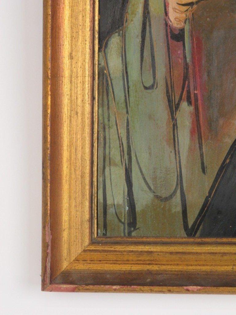 Abstract Portrait Religious Figure - 4