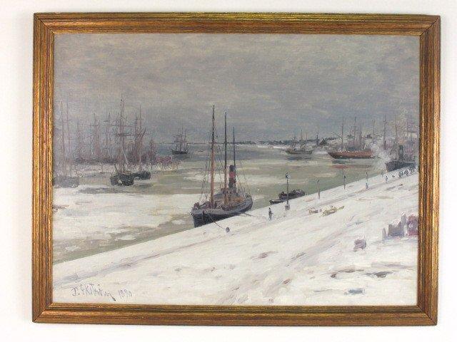 Per Ekstrom (1844-1935) Oil on Panel