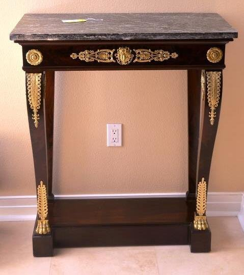 Marble Top Empire Pier Table