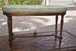 Early 20th C. Louis XVI Style Oval Window Bench