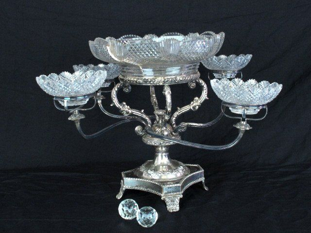 Victorian Silver Plated Epergne