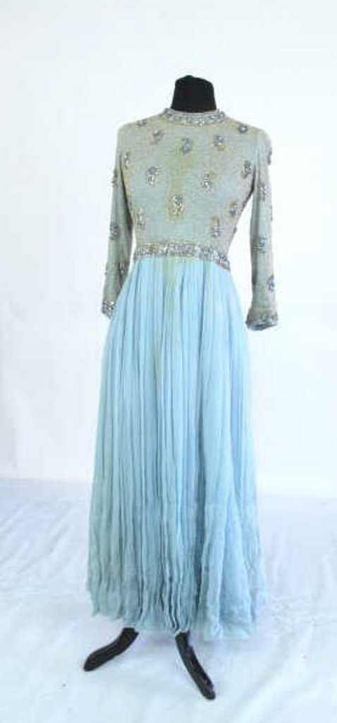 Evening Dress with Jeweled Bodice Vintage evening dress