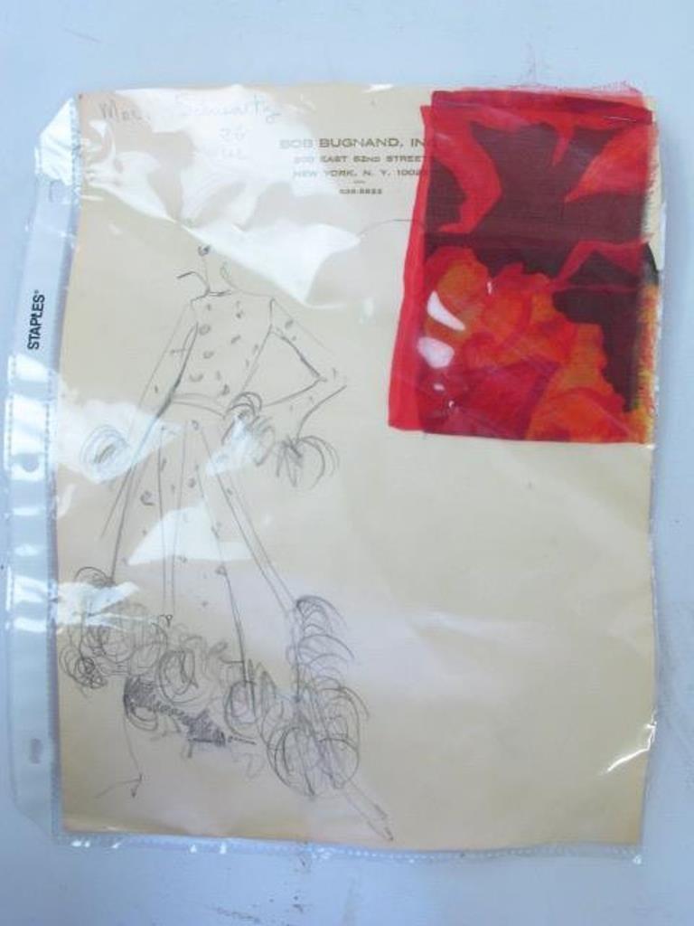 Bob Bugnand Chiffon Dress with Shawl Vintage Bob - 10