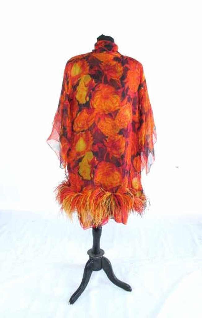 Bob Bugnand Chiffon Dress with Shawl Vintage Bob